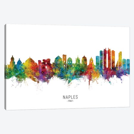Naples Italy Skyline Canvas Print #MTO2211} by Michael Tompsett Canvas Art Print