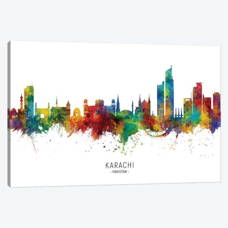 Karachi Pakistan Skyline Canvas Print #MTO2216} by Michael Tompsett Canvas Wall Art