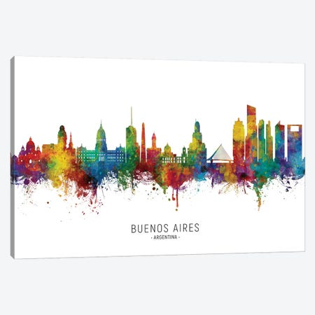 Buenos Aires Argentina Skyline 3-Piece Canvas #MTO2217} by Michael Tompsett Canvas Art
