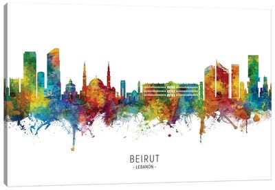 Beirut Lebanon Skyline Canvas Art Print