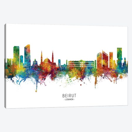 Beirut Lebanon Skyline Canvas Print #MTO2218} by Michael Tompsett Canvas Print