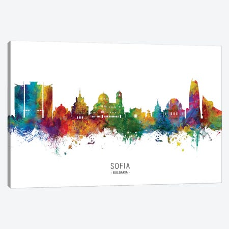 Sofia Bulgaria Skyline Canvas Print #MTO2219} by Michael Tompsett Canvas Print
