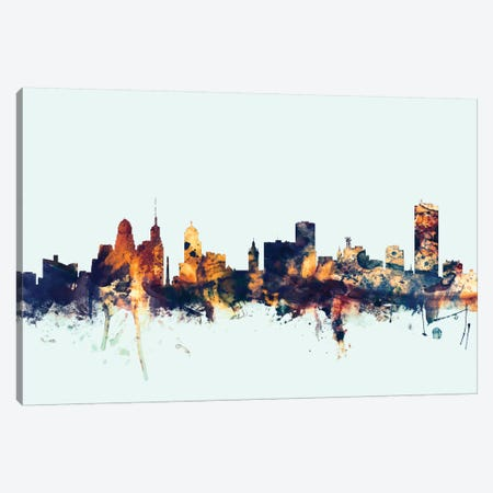 Buffalo, New York, USA On Blue Canvas Print #MTO221} by Michael Tompsett Art Print