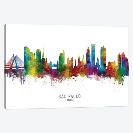 Sao Paulo Brazil Skyline Canvas Print #MTO2220} by Michael Tompsett Canvas Artwork