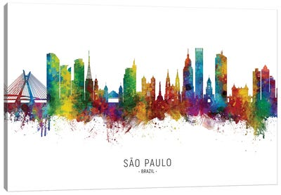 Sao Paulo Brazil Skyline Canvas Art Print