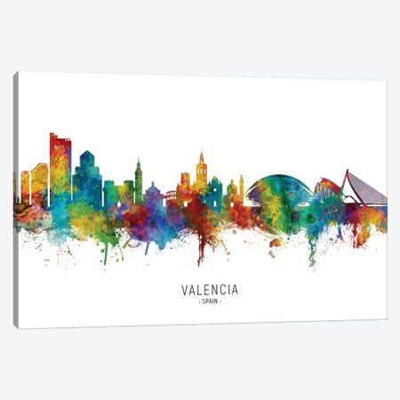 Valencia Spain Skyline Canvas Print #MTO2221} by Michael Tompsett Canvas Artwork