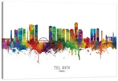 Tel Aviv Israel Skyline Canvas Art Print