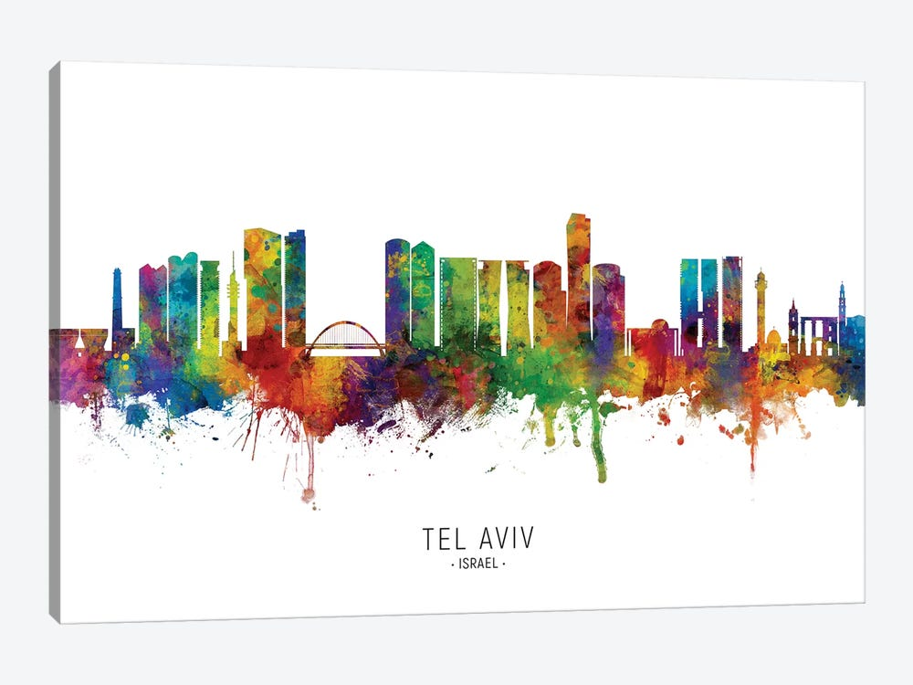 Tel Aviv Israel Skyline by Michael Tompsett 1-piece Art Print