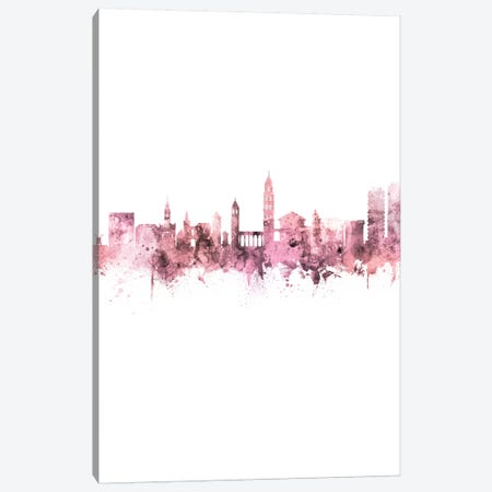 Split Croatia Skyline Rose Pink Portrait Canvas Print #MTO2232} by Michael Tompsett Art Print