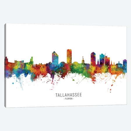 Tallahassee Florida Skyline Canvas Print #MTO2235} by Michael Tompsett Canvas Wall Art