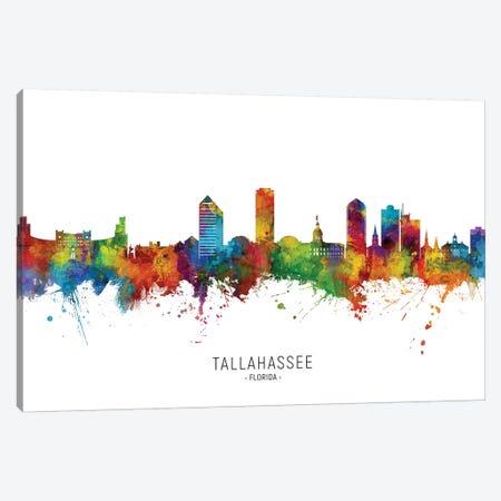 Tallahassee Florida Skyline Canvas Print #MTO2235} by Michael Tompsett Canvas Wall Art