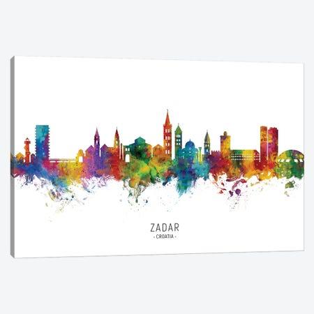 Zadar Croatia Skyline Canvas Print #MTO2236} by Michael Tompsett Canvas Art