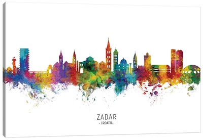 Zadar Croatia Skyline Canvas Art Print