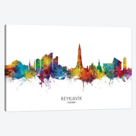 Reykjavik Iceland Skyline Canvas Print #MTO2237} by Michael Tompsett Canvas Wall Art