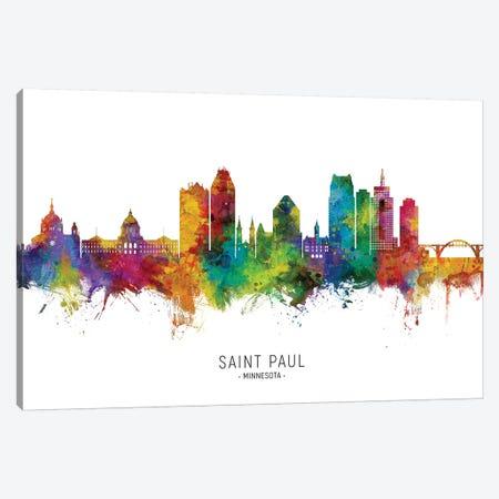 Saint Paul Minnesota Skyline Canvas Print #MTO2238} by Michael Tompsett Canvas Print