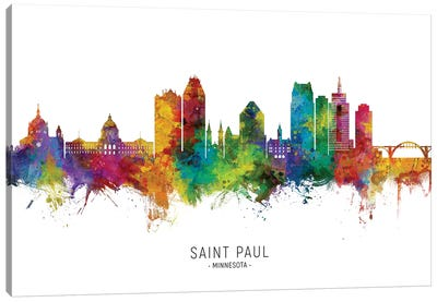 Saint Paul Minnesota Skyline Canvas Art Print