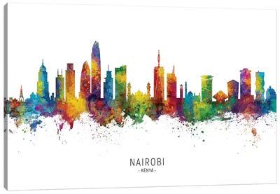 Nairobi Kenya Skyline Canvas Art Print