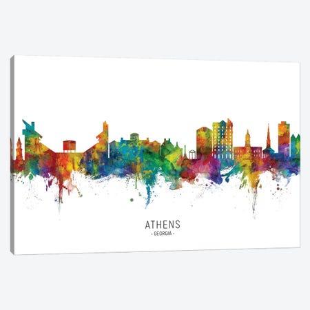 Athens Georgia Skyline Canvas Print #MTO2242} by Michael Tompsett Canvas Artwork