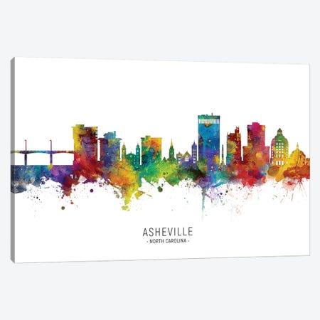 Asheville Skyline Canvas Print #MTO2244} by Michael Tompsett Canvas Print