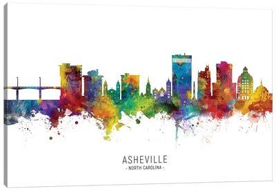 Asheville Skyline Canvas Art Print