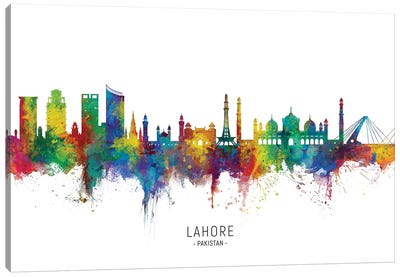 Lahore Pakistan Skyline Canvas Art Print