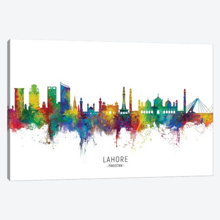 Lahore Pakistan Skyline Canvas Print #MTO2246} by Michael Tompsett Canvas Print