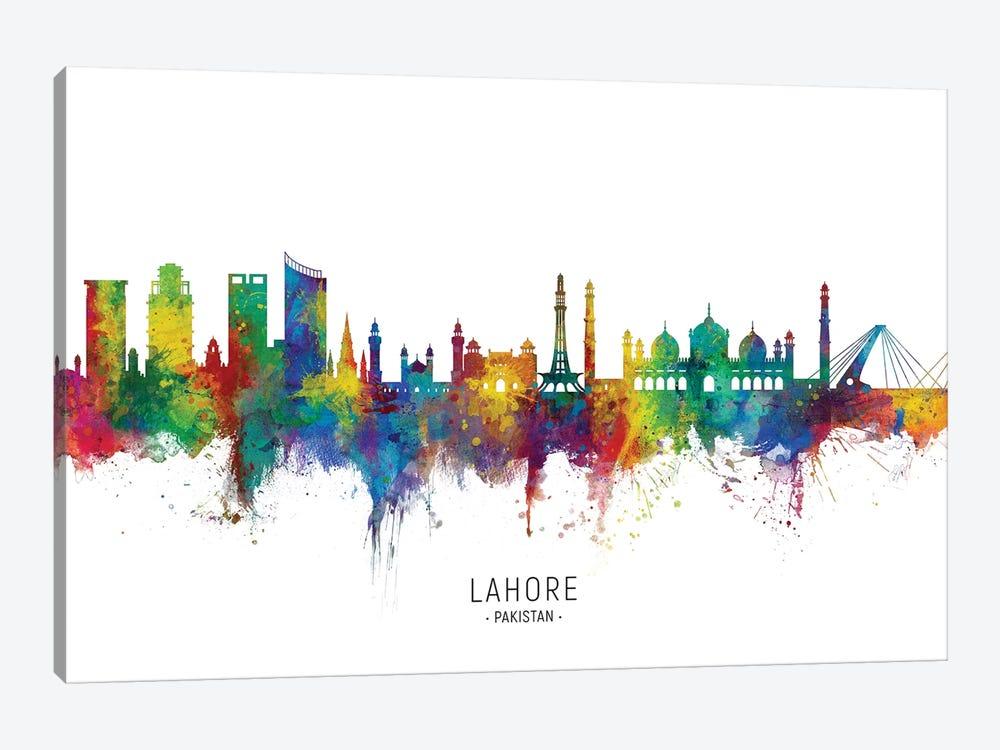 Lahore Pakistan Skyline by Michael Tompsett 1-piece Canvas Artwork