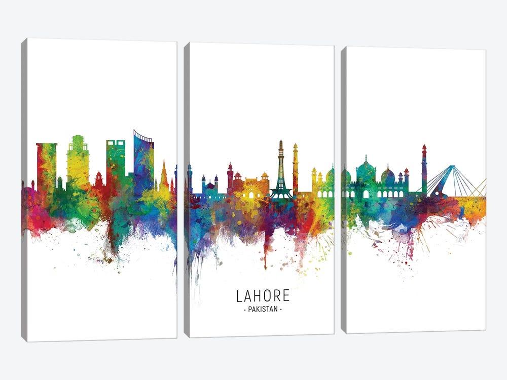 Lahore Pakistan Skyline by Michael Tompsett 3-piece Canvas Art
