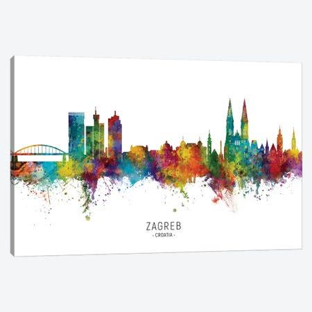 Zagreb Croatia Skyline Canvas Print #MTO2247} by Michael Tompsett Canvas Print