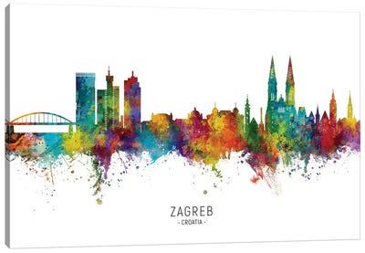 Zagreb Croatia Skyline Canvas Art Print