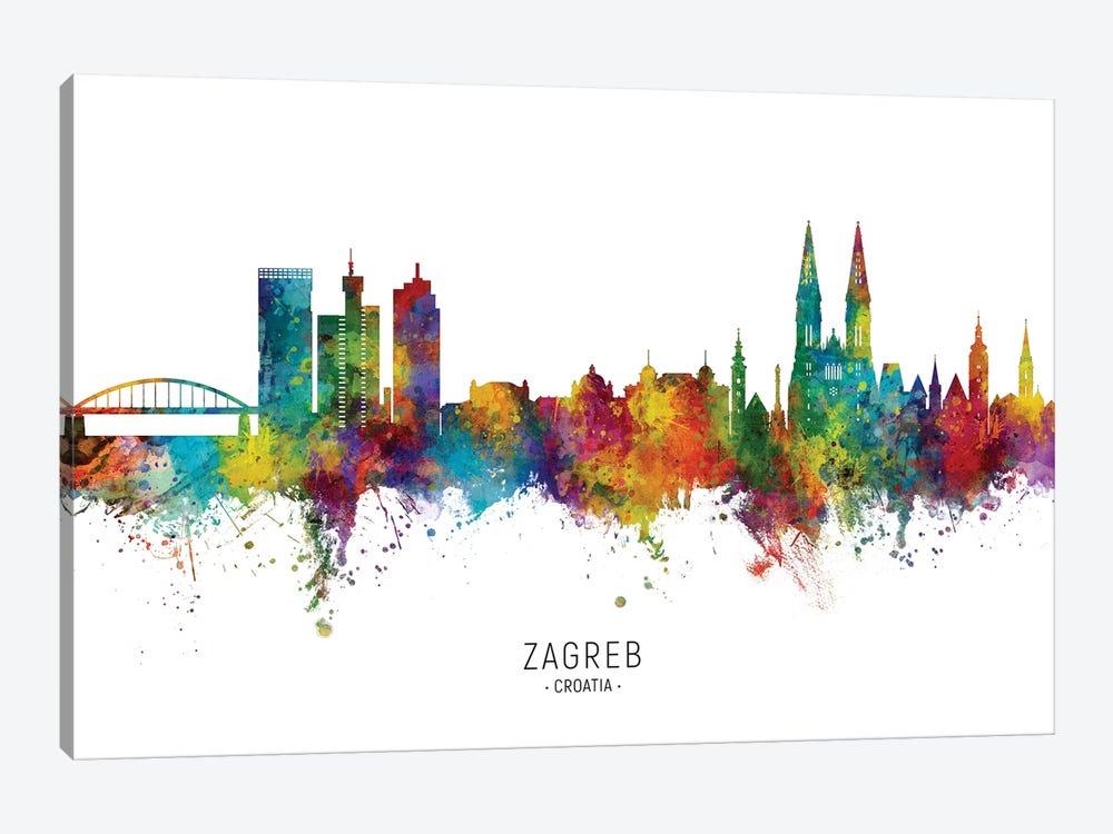 Zagreb Croatia Skyline by Michael Tompsett 1-piece Canvas Print