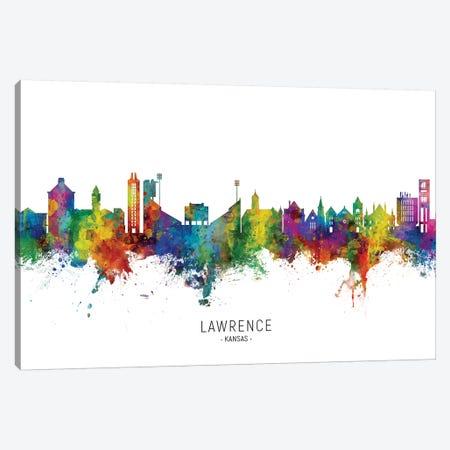Lawrence Kansas Skyline Canvas Print #MTO2249} by Michael Tompsett Canvas Artwork