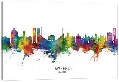 Lawrence Kansas Skyline Canvas Art Print