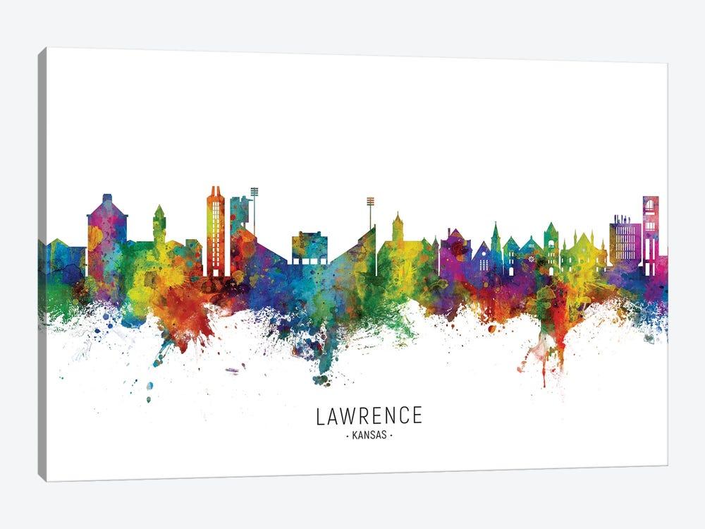 Lawrence Kansas Skyline by Michael Tompsett 1-piece Canvas Print