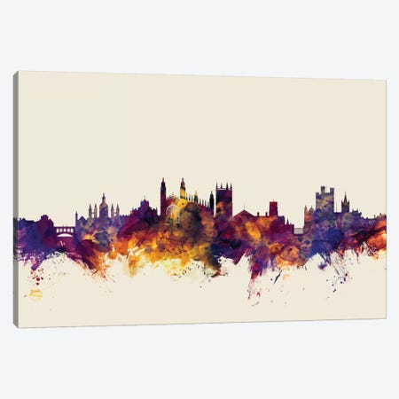 Cambridge, England, United Kingdom On Beige Canvas Print #MTO224} by Michael Tompsett Canvas Artwork