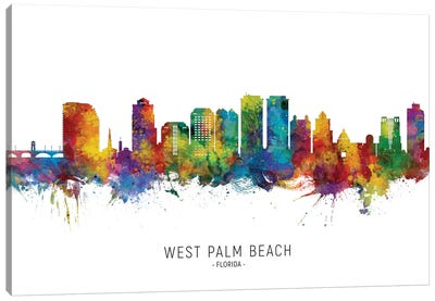 West Palm Beach Skyline Canvas Art Print