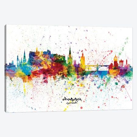 Edinburgh Scotland Skyline Splash Canvas Print #MTO2261} by Michael Tompsett Canvas Wall Art