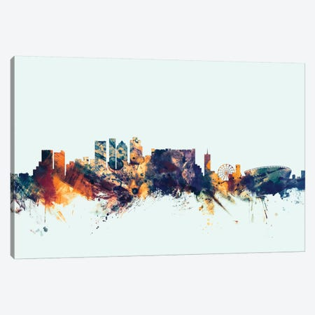 Cape Town, South Africa On Blue Canvas Print #MTO227} by Michael Tompsett Canvas Art