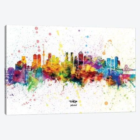 Tokyo Japan Skyline Splash Canvas Print #MTO2317} by Michael Tompsett Canvas Art Print
