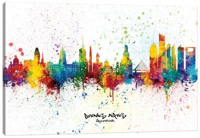 Buenos Aires Argentina Skyline Splash Canvas Art Print