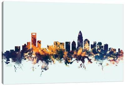 Skyline Series: Charlotte, North Carolina, USA On Blue Canvas Print #MTO231