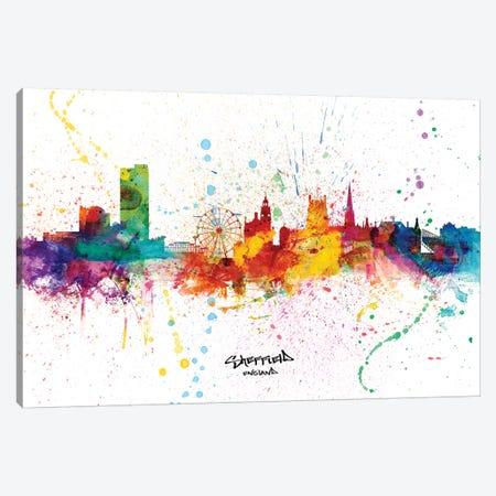 Sheffield England Skyline Splash Canvas Print #MTO2331} by Michael Tompsett Canvas Art