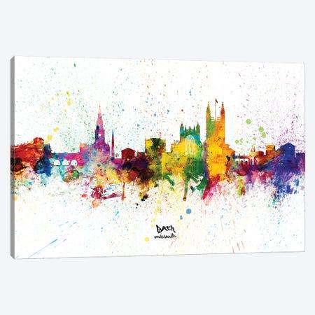 Bath England Skyline Splash Canvas Print #MTO2335} by Michael Tompsett Art Print