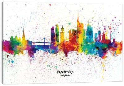 Frankfurt Germany Skyline Splash Canvas Art Print