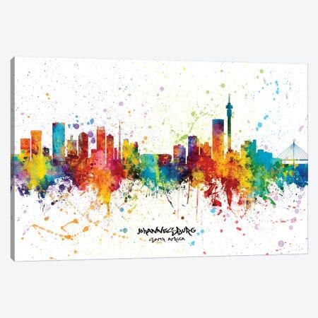 Johannesburg South Africa Skyline Splash Canvas Print #MTO2346} by Michael Tompsett Canvas Art