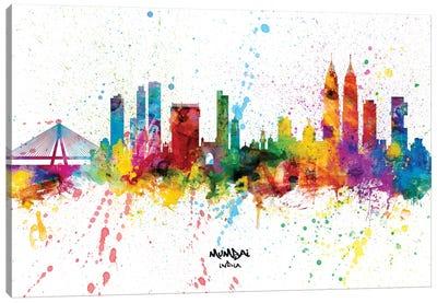Mumbai India Skyline Splash Canvas Art Print