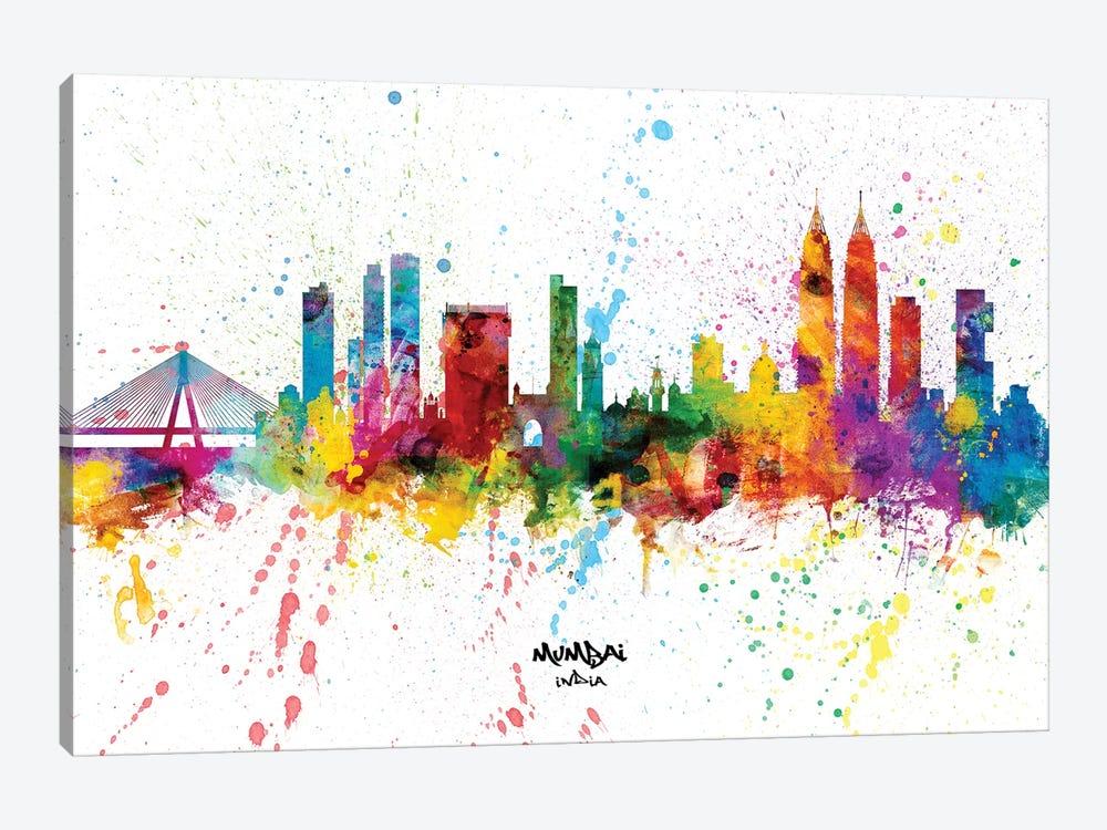 Mumbai India Skyline Splash by Michael Tompsett 1-piece Canvas Art