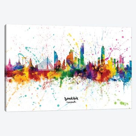 Bangkok Thailand Skyline Splash Canvas Print #MTO2353} by Michael Tompsett Canvas Art