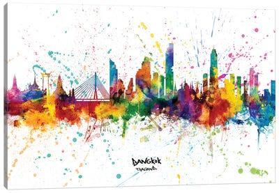 Bangkok Thailand Skyline Splash Canvas Art Print