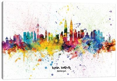 Kuala Lumpur Malaysia Skyline Splash Canvas Art Print